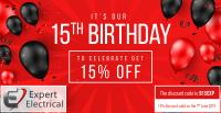 15% Off Today to Celebrate Our 15th Anniversary