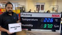 Temperature and Humidity displays with web logging and email alerts