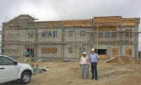 New school takes shape with steel