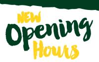 Updated Store Opening Hours
