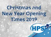 Christmas and New Year Opening Hours 2019