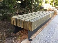 BEACHSIDE RAILWAY SLEEPER BENCHES IN WESTERN AUSTRALIA