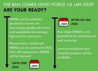 R404A refrigerant phase out ban comes into force 1st Jan 2020, are you ready?