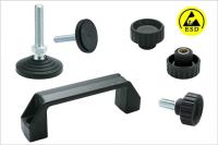 Elesa ESD components – attractive to the spraying and powder coating industry