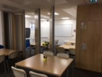 Flexible classroom spaces provided by Beehive Folding Partitions