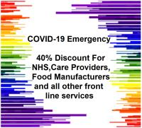COVID-19 Emergency 40% Discount for NHS, Care Providers, Food Manufacturers and all other front line services