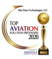 Alta Data Technologies Recognised as a Top 10 Aviation Solutions Supplier by Aerospace & Defense Review