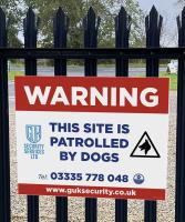 Using sign boards to highlight CCTV & security measures to deter burglars & intruders.