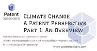 Climate Change – A Patent Perspective Overview