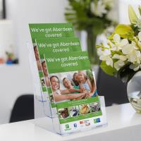 Leaflet Holder With Three Tiers