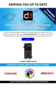 DD App Now Includes Updated Xerox Service Manuals for e-studio 5506AC Series