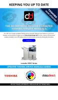 DD App Now Includes Updated Xerox Service Manuals for e-studio 2555C Series