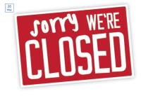 CES will be closed this bank Holiday Monday 31/05/21