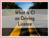 What is C1 on driving licence?