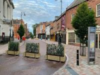 Hedera Screens provide Leicester City Centre Social Distancing Greenery