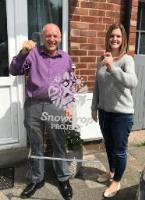 Sheffield Lasers donate LED lit sign for charity The Snowdrop Project