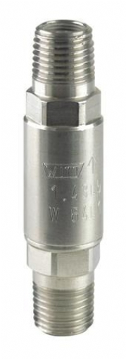 BURN OUT SAFETY UP TO 240 BAR ON NON-RETURN VALVE FROM WITT