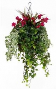 ARTIFICIAL HANGING BASKETS, for outdoor.