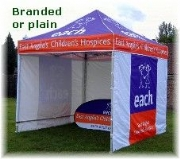 A branded marquee is a powerful advertising tool