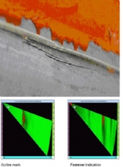 AIRCRAFT SCRIBE MARKS USING PHASED ARRAY