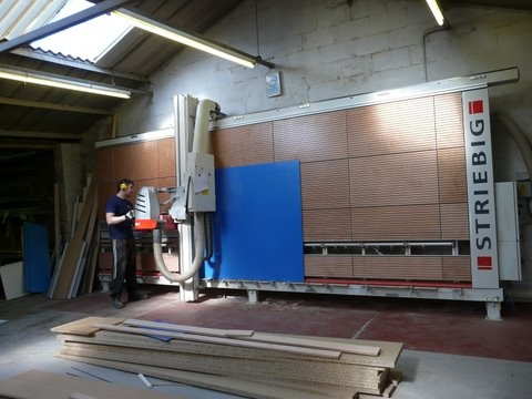 Permabond Laminates sticks with Striebig for third vertical panel saw