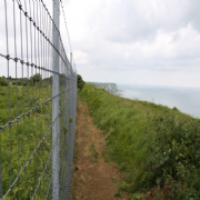 Security Wire Netting From McVeigh Parker Used To Secure World War Two Gun Emplacements
