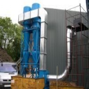 Tyre recycling plant dust extraction system