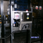 Acmi Palatizer fitted with state of the art Automatic Grease Lubrication System