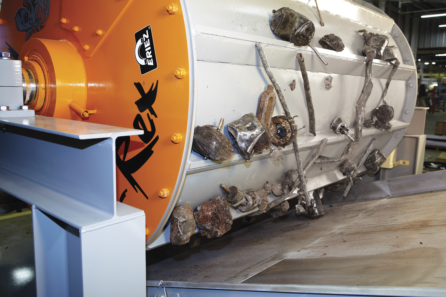 Eriez Offers Solution to Meatball Problems with New Scrap Drum