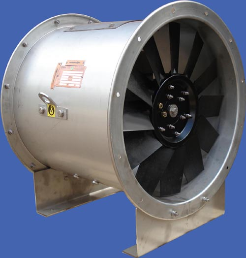 Axial fans with polypropylene impellers