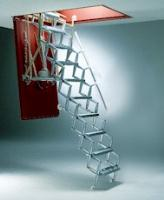 Supreme stairway with steel hatchbox and trapdoor available with two trapdoor options - fire resistant to 30 minutes or 90 minutes