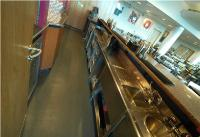 Efficient bars: Central to the catering scheme in Old Trafford's new quadrant stands