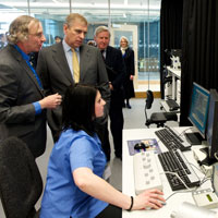 Land attends Royal opening of Strathclyde University's new research centre