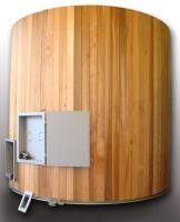 4m Dia Cladded Wood Chip Silo
