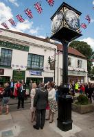 New Jubilee pillar clock by Good Directions Ltd unveiled by Camilla, Duchess of Cornwall