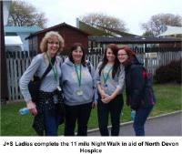 J+S raise a total of £6,175 for North Devon Hospice
