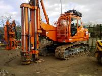 Fambo HR2000 hydraulic impact hammer back driving sheet piles into mudstone
