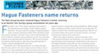 Hague Fasteners feature in January's Fastener & Fixing Magazine