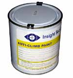Anti climb paint, is widely used to prevent unwelcome visitors from climbing up drainpipes, on to roofs, or over walls, gates an