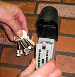 Outdoor key boxes for the elderly