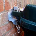 Wheelie Bin Lock now available with natural galvanised finish Monday 15th November 2010