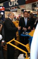 David Cameron UK Prime Minister visits SPE stand in the Middle East