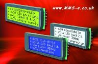 MMS Electronics has a new 3.3V 20x4 high-contrast alphanumeric LCD display from the display manufacturer Electronic Assembly Gmbh.
