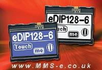 EA eDIP128B-6LW and EA eDIP128W-6LW now available from MMS-e