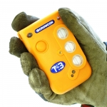 Toxic or explosive gas detection in confined spaces