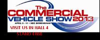 We will be exhibiting at the CV show 2013