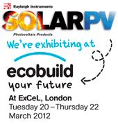 Solar PV at Ecobuild Exhibition