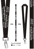 Stylish Black Lanyards from Stablecroft Conference Products