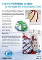 Visit our Packaging Surgery at the easyFairs Innovations Show