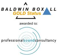 Professional Sound Consultancy Awarded Gold Status